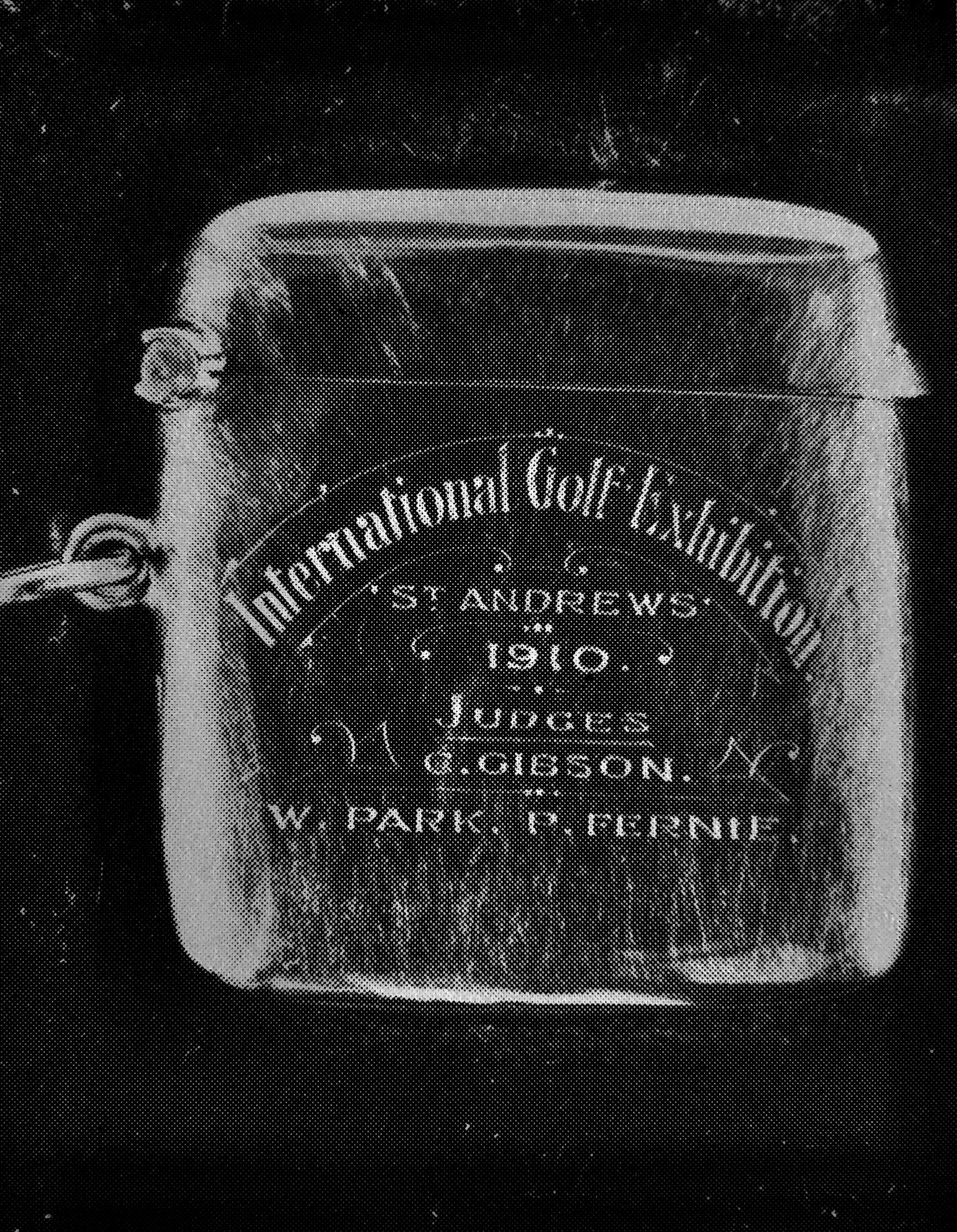 Vesta Case, presented to judges at The International Golf Exhibition, St. Andrews, 1910