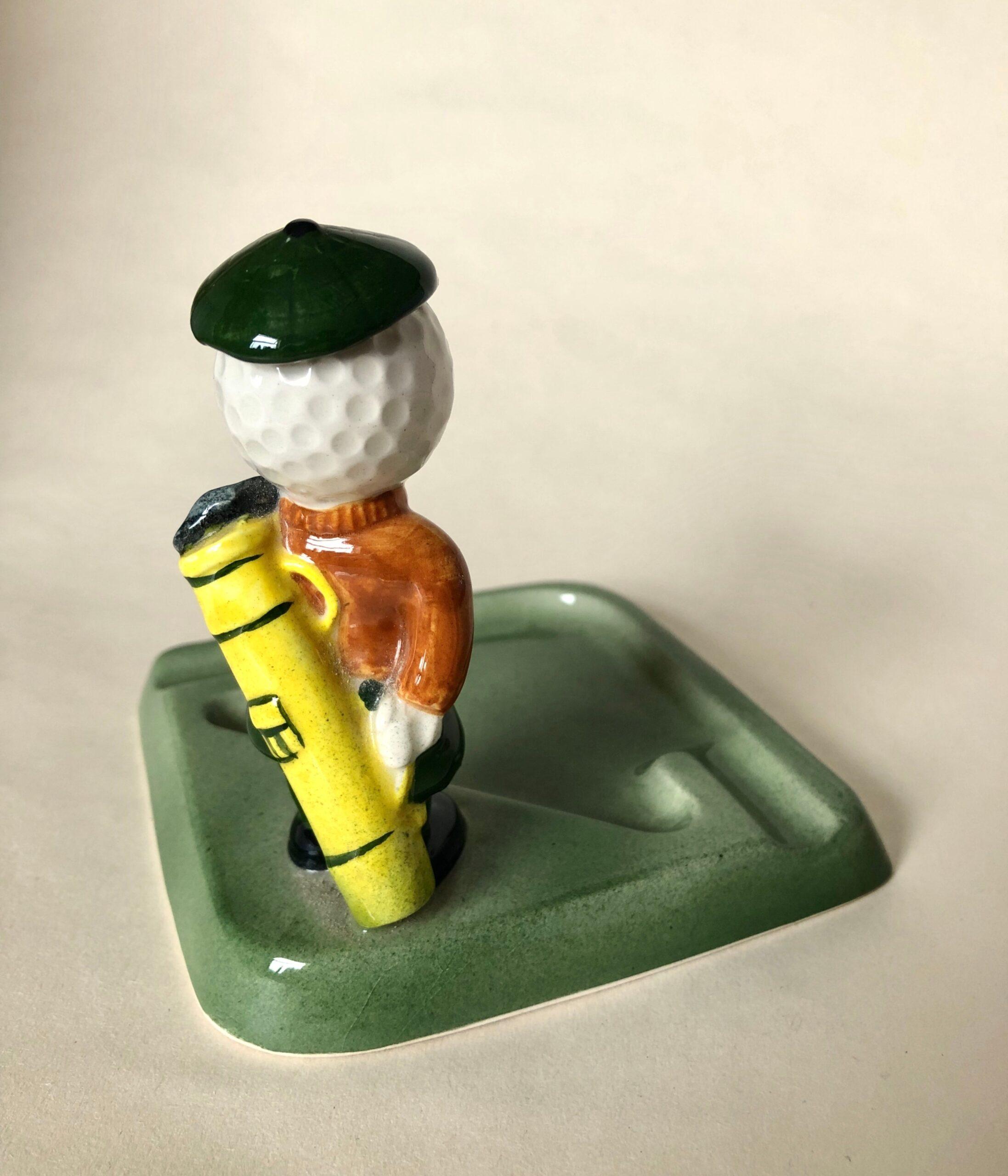 Cavalier China Golf Ash Tray