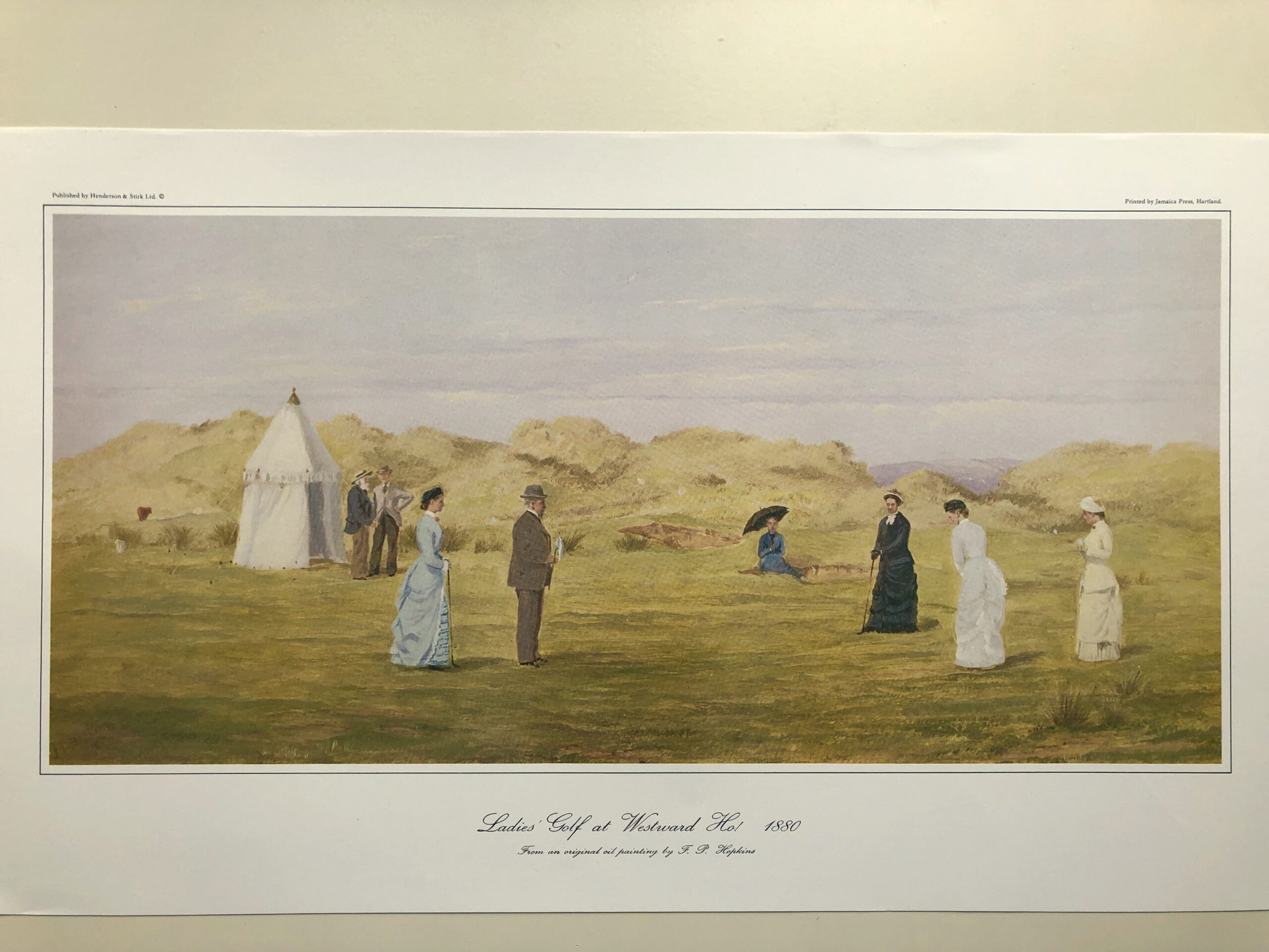 Ladies' Golf at Westward Ho! Print