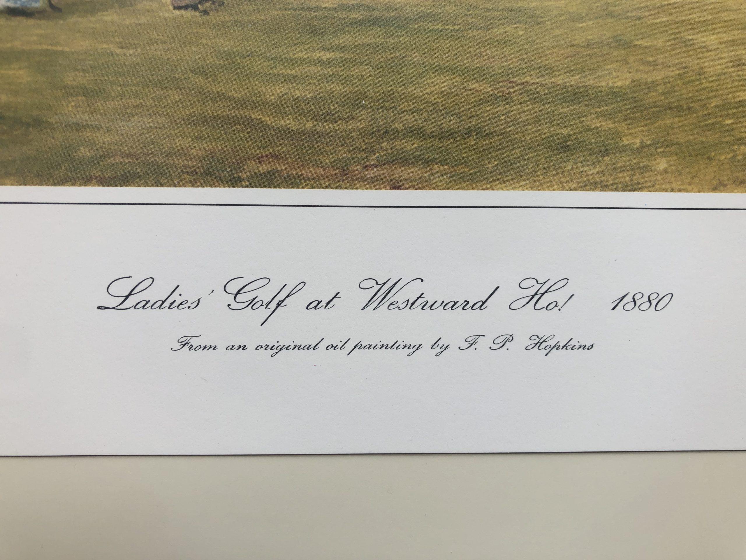 Ladies' Golf at Westward Ho! Print