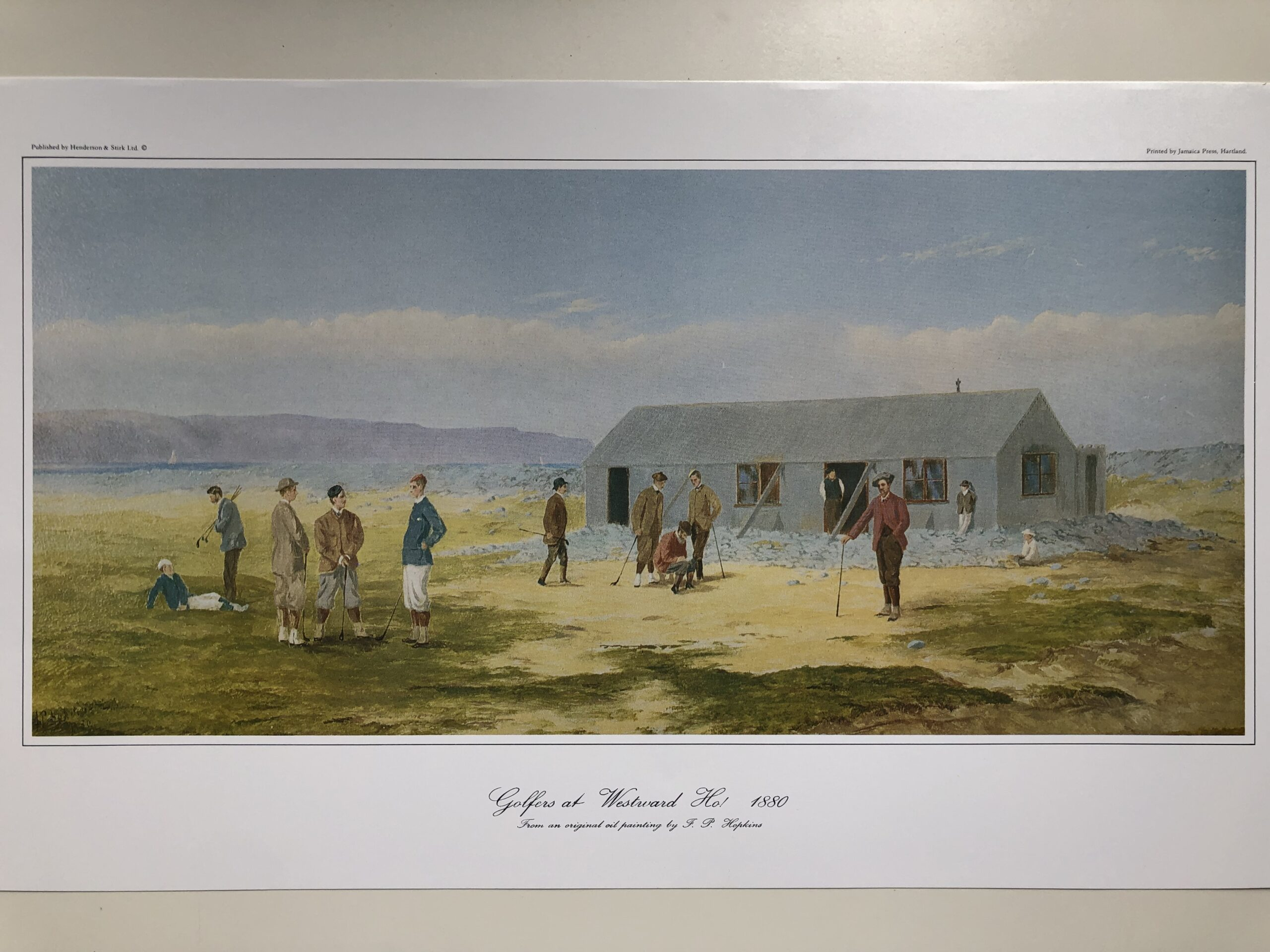 Golfers at Westward Ho! Print