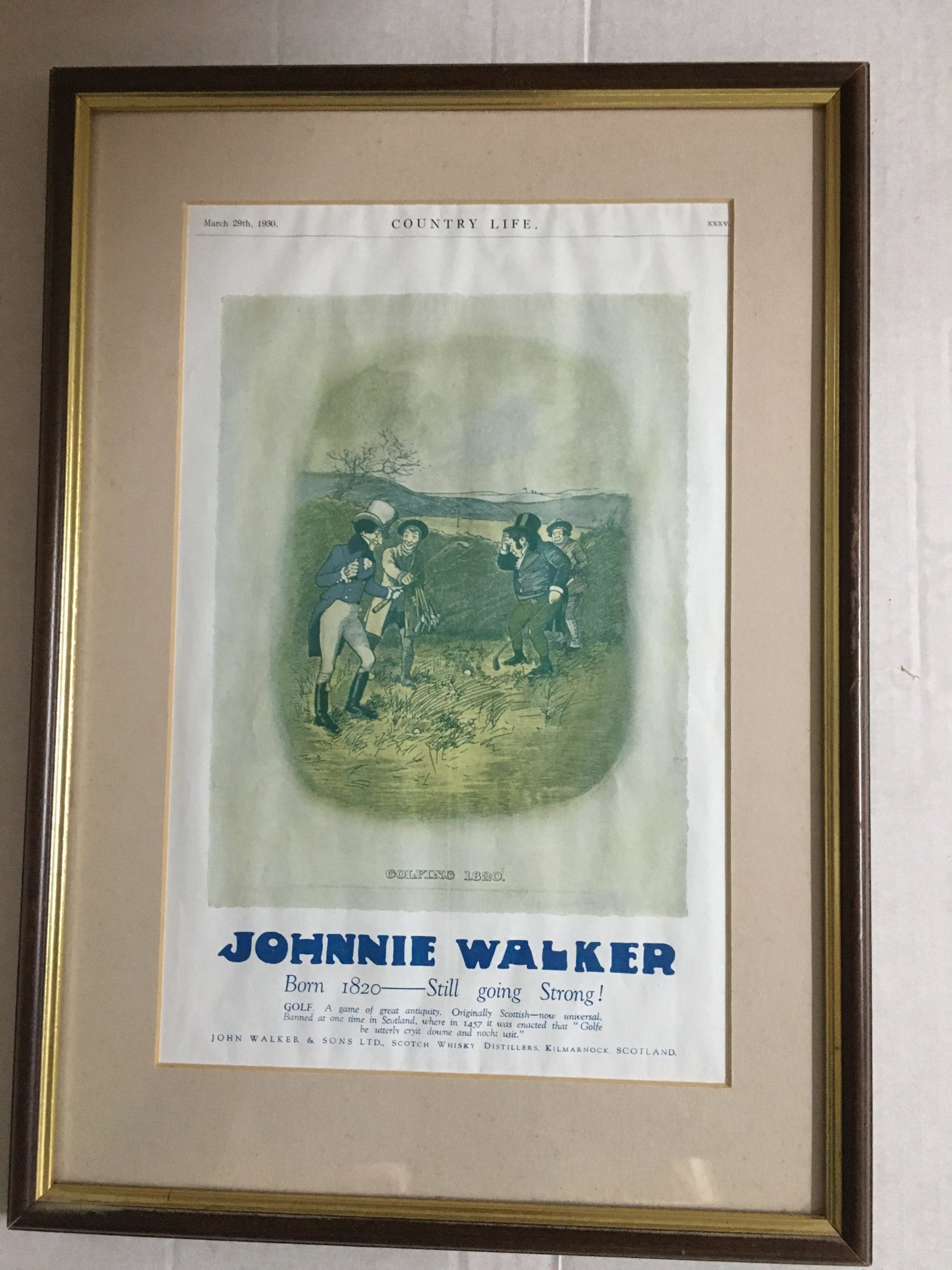 Country Life Johnnie Walker Scotch Whisky Advertisement