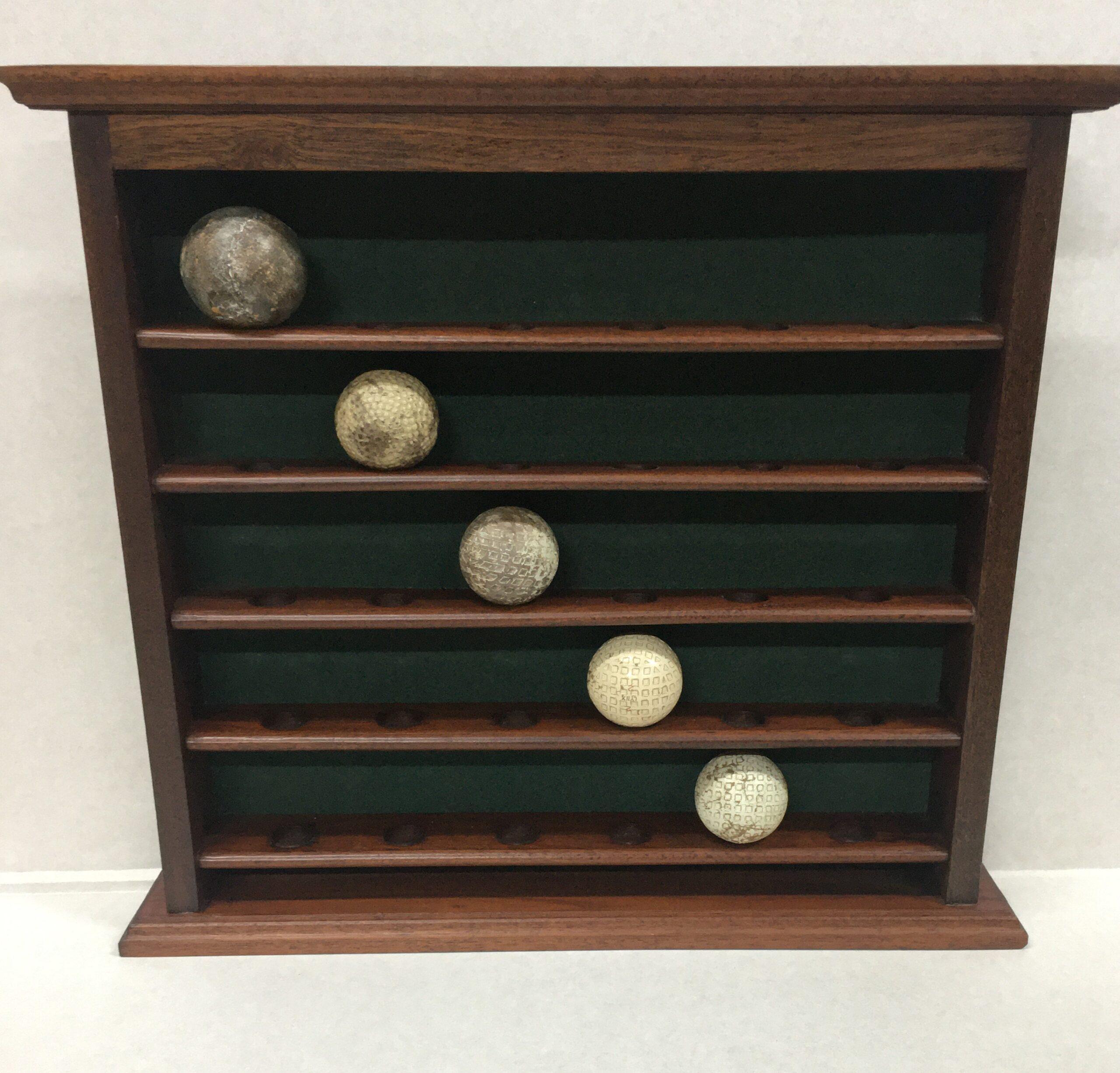 Mahogany 30 Golf Ball Display Rack